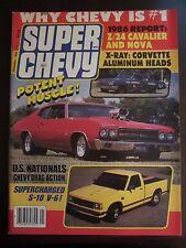 Super Chevy Magazine January 1986 Z/24 Cavaliar Nova US Nationals S-10 V-6 (W) X