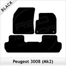 Peugeot 3008 Mk2 2017 onwards Tailored Fitted Carpet Car Floor Mats BLACK