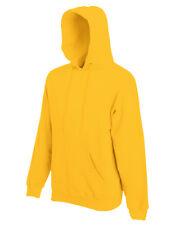 Fruit of the Loom Men's Hooded Sweatshirt - Plain Hoodie Blank Pullover Hoody