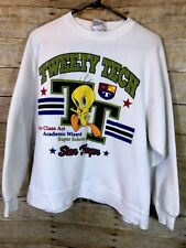 Looney Tunes Tweety Tech Star Player Sweatshirt Warner Brothers  M/L White