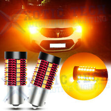 Anti Hyper Flash Error Free Amber 1156 BA15S LED Turn Signal Blinker Light Bulbs