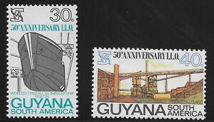 Guyana Scott #93-94, Singles 1969 Complete Set FVF MNH