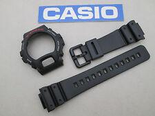 Genuine Casio G-Shock DW6600 DW6900 black resin watch band bezel plastic buckle