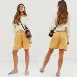 NEW Free People Brittany Long Beach Shorts Gold Small