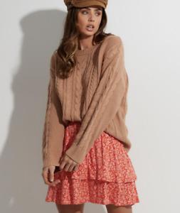 Billabong BNWT Chunky Cable Knit Jumper Sweater Women's Size Medium Sweater