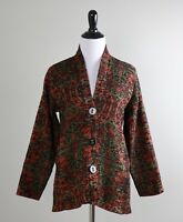 HABITAT $92 Tapestry Woven Button Front Jacket Top W/ Pockets Size Small