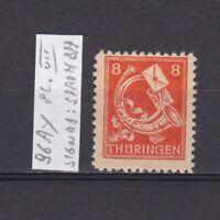 GERMANY 1945 Soviet zone, Mi# 96Ay, plate VII, CV €16, signed, MNH