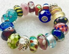 20 pieces elegant fine made Single Core Murano Glass Beads fit Charms Bracelet V
