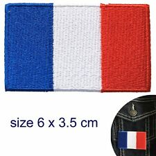 French flag iron on patch France Tricolour Tricolore Drapeau français patches