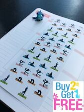 S032-- Yoga, Sport Planner Stickers for Erin Condren