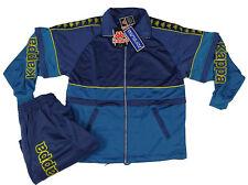 Tuta Kappa uomo taglia M completa blu giacca pantaloni logo vintage tracksuit