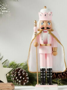 2020 Pink Valentine Nutcracker King Shabby Chic Glitter with Cape 14""
