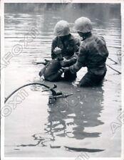 1965 Vietnam War Vietnamese Marines Dunk Head Of Viet Cong To Interrogate Photo
