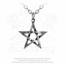 ALCHEMY ENGLAND Gothic Steampunk Occult Pewter Pendant Chain NECKLACE Pentagram