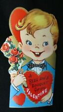 Vintage Beau w/Bouquet Valentine Card c. 1950s unused