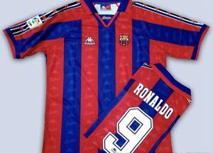 Barcelona Ronaldo Retro Shirt - Ronaldo 9 Medium