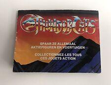 "Thundercats foldout booklet folder "" spaar ze allemaal "" Dutch / French"