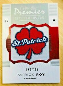 Patrick Roy O-PEE-CHEE Premier Stitchings    No. PS-PR  /  42 of 199