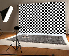 Black And White Squares Photography Backdrop Background Studio Photo Props 7x5FT