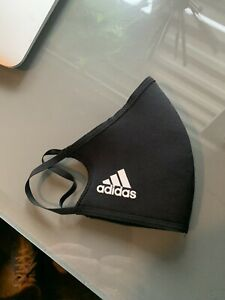 One (1) Adidas Athletic Face Mask Cover Authentic Adult Size Large Black