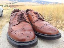 Vintage Jaman Deluxe Brown Leather Dress Oxfords Vingtip Shoes Men's size 9.5
