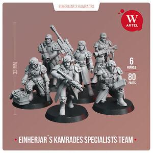Ein Kamrades Specialists - Artel W- Imperial Guard Militarum Commissar Squad
