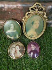 Joblot Of 4 Miniature Framed Pictures Victorian Some Very Old Vintage Antique