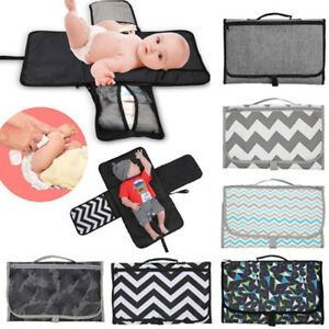 Folding Waterproof Travel Baby Diaper Changing Mat Home Away Storage Pad Covers