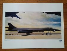 """The First B-1 Bomber"" U.S. Air Force Lithograph 23"" x 17"" Art Print Poster 1987"