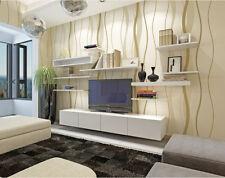 3D Modern Self-adhesive Gray Wallpaper Plain Wave TV Background Wall Living room