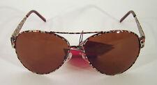 Sonnenbrille Sunglasses Pilot Aviator Sommer UV 400 Leopard Metall cool NEU
