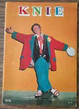 Magazine cirque Knie 1976 - circus, circo