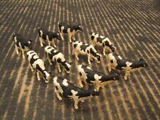 """Ertl Dairy Cow Herd Holstein 3 Poses Lot of 10 1.5"""" 1/64"""