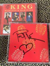 KING - REMIXES & RARITIES HAND SIGNED  - 2 x CD ALBUM AUTOGRAPHED cherry pop