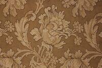 Antique Fabric French Art Nouveau Woven Damask Panel Large Scale Pattern