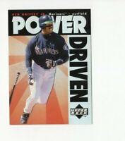 1996 Upper Deck Power Driven Ken Griffey Jr. RARE Insert Card #pd7 HOF Mariners