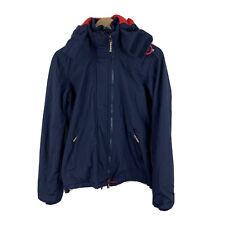 SUPERDRY JACKET The Original Windcheater Womens Size M Triple Zip JAPAN Blue