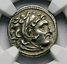 NGC XF. Alexander the Great. Stunning Drachm. Ancient Greek Silver Coin.