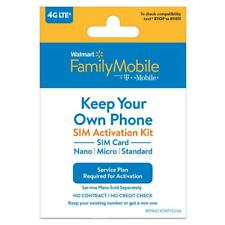 Walmart Family Mobile Bring Your Own Phone Sim kit 3in1 compatible