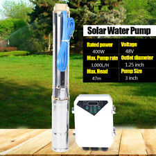 """400W 3"""" Dc Deep Well Solar Water Pump Submersible Pump Mppt Controller Kit"""