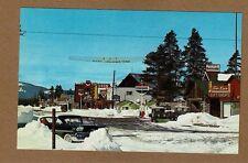 West Yellowstone,MT Montana, nice winter chrome view,Standard,Chevron,Texaco