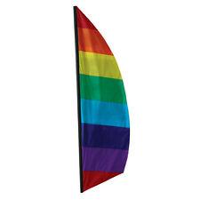 Rainbow Feather Banner Style 8.5 ft Flag..24.... PR 23821