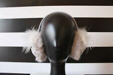 Kate Spade NY Woman's Earmuffs Knit Faux Fur Owl Grey One Size