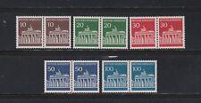 """Bund 506-10 Paare """"Brandenburger Tor 1966"""" postfrisch komplett"""