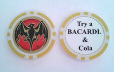 Old Try a BACARDI & COLA Puerto Rico RUM YELLOW CHIP Poker Casino Bar token ron