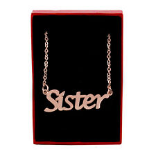 SISTER Name Necklace Stainless Steel / 18ct Rose Gold Plated | Birthday Gifts