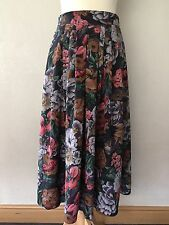 Vintage Skirt Late 80's/90's Colourful Floral Skirt Made In West Germany