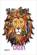 LEONE Tatuaggio temporaneo impermeabile tatuaggio Retrò Leone Tatuaggio Hippy Leone Tatuaggio