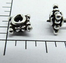Spacer Bali Beads 8mm Square Shape Silver Polished 10 Pieces