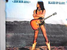 """Jon Bon Jovi - Huge Vintage Promo poster / Rare """"1990"""" / Blaze of Glory / 32x40"""""""